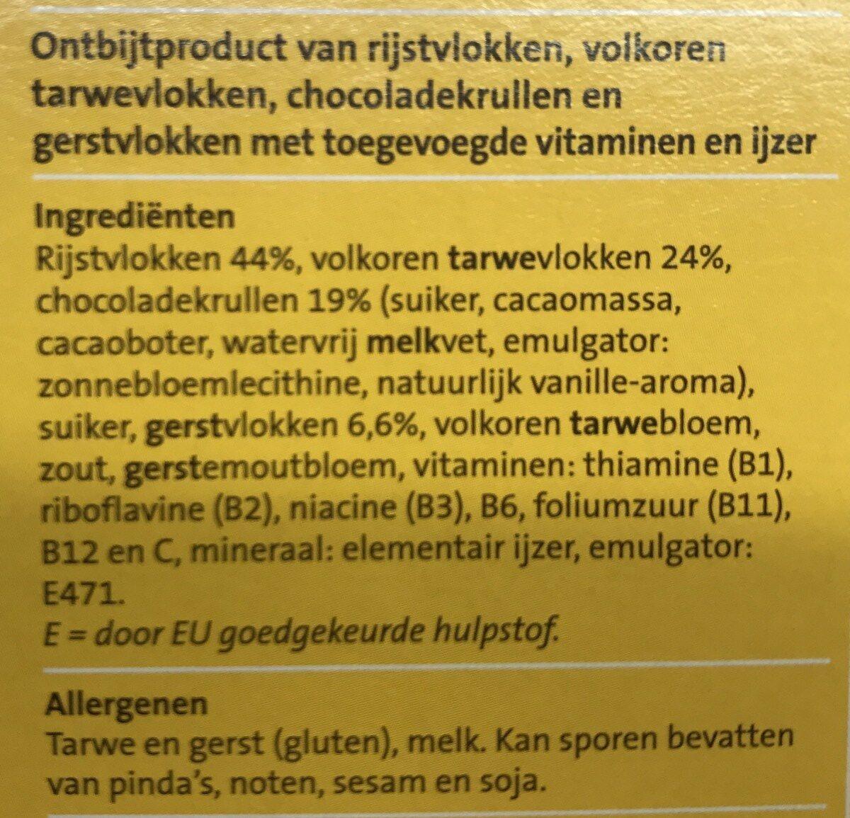 Special flakes chocolade - Ingrediënten - nl