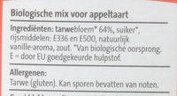 Appeltaartmix - Ingredients - nl