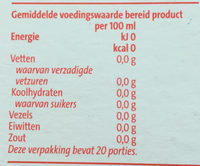 Biologische rooibos thee - Nutrition facts - nl