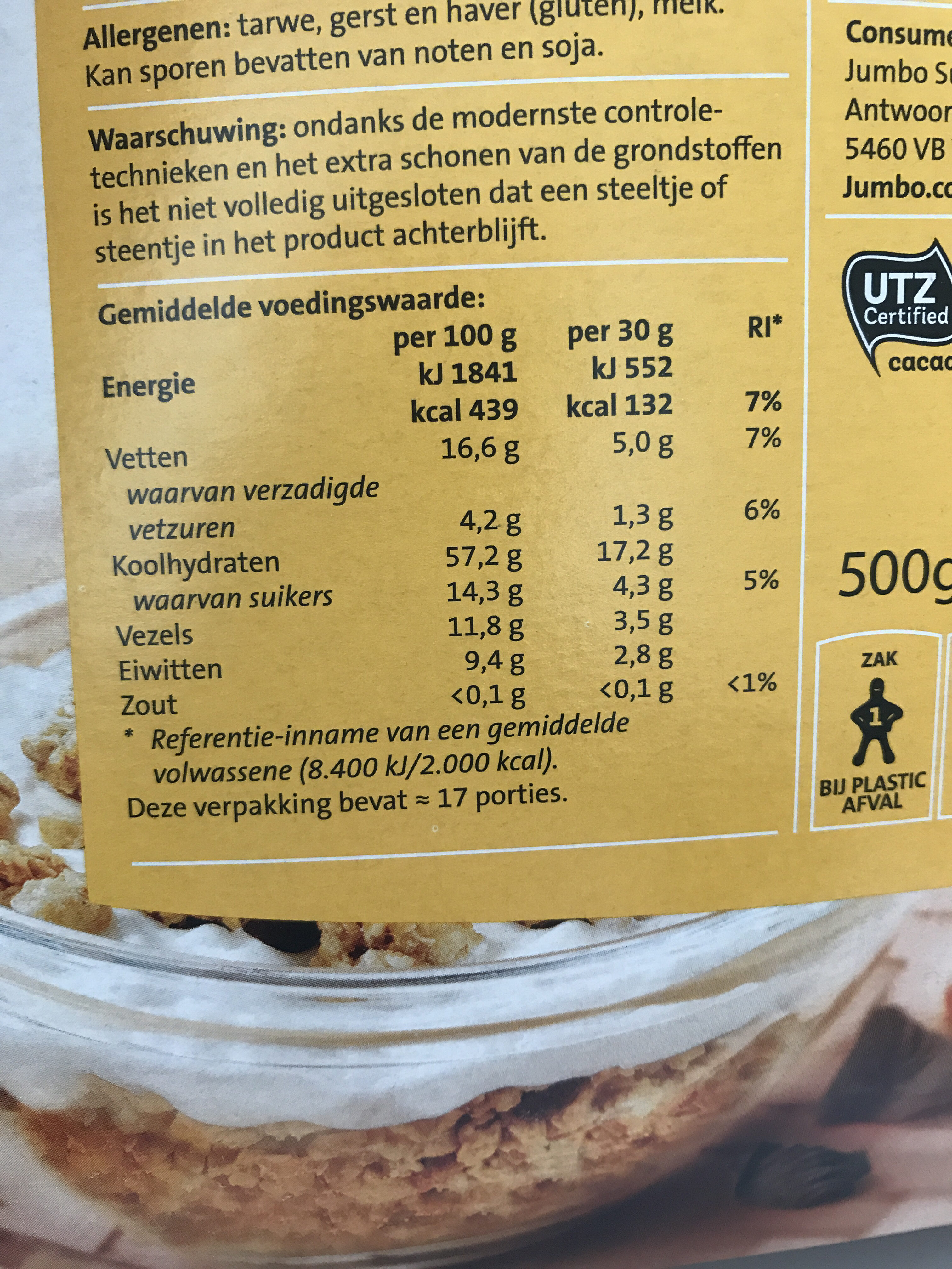 Crunchy Muesli - Voedingswaarden - nl