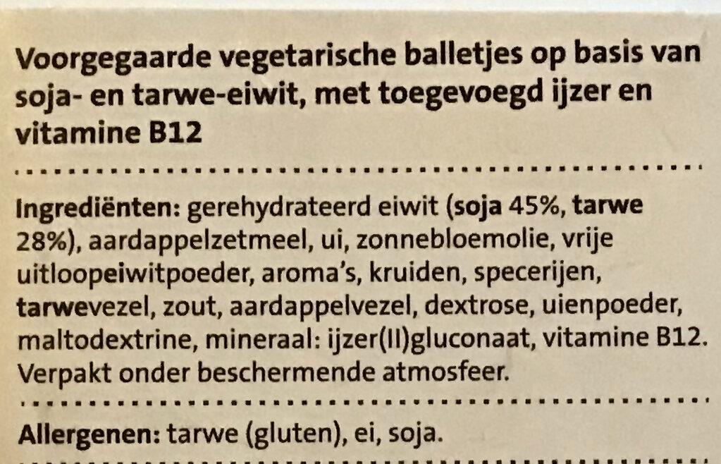 Fijn gekruide balletjes - Ingredients