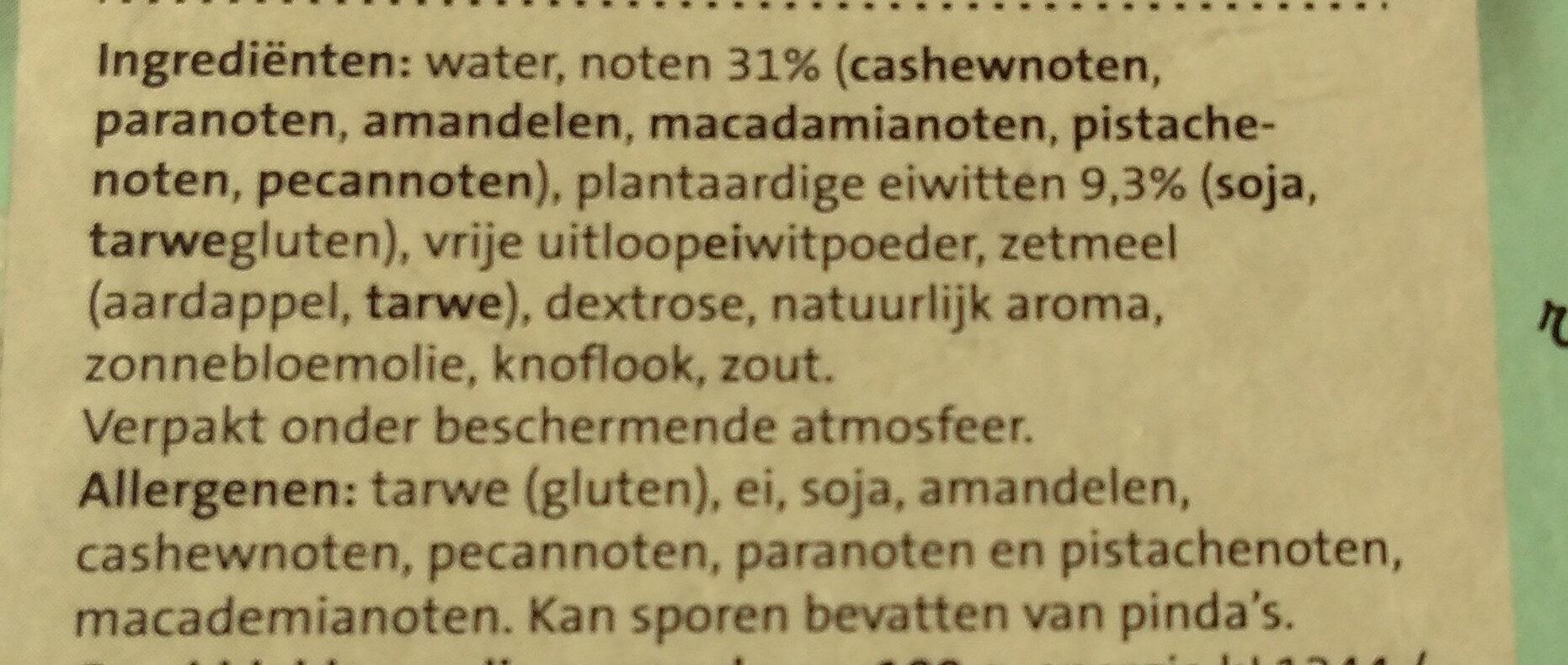 Notenburger - Ingrediënten