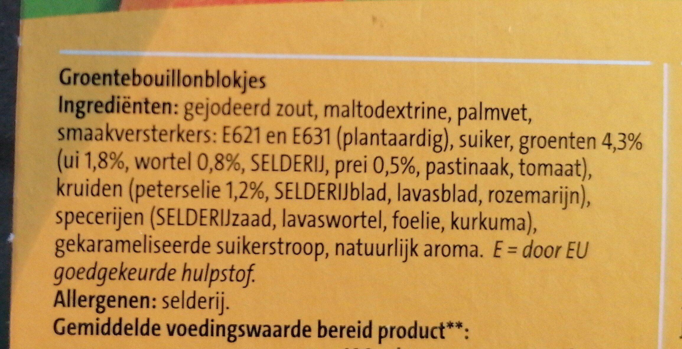 Bouillon - Ingrediënten - en