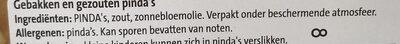 Kingsize Pinda's Gezouten - Ingredients - nl