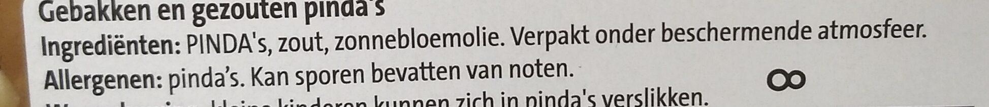 Kingsize Pinda's Gezouten - Ingrediënten - nl