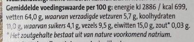 Jumbo Hazelnoten ongezouten - Nutrition facts