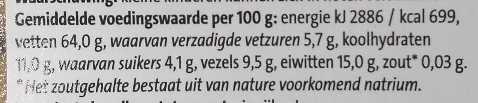 Jumbo Hazelnoten ongezouten - Voedingswaarden - nl