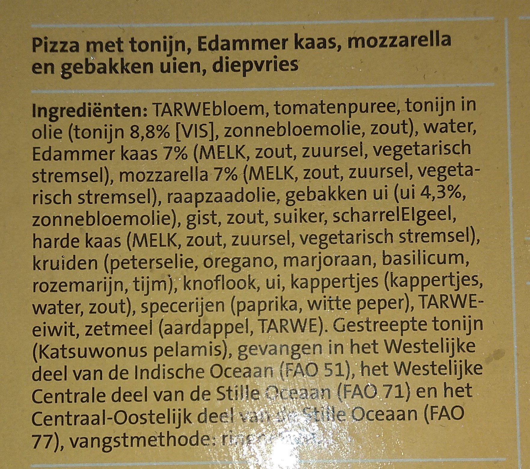 Pizza Bueno - Ingredients - nl