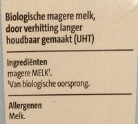 Biologische magere melk lang hoodbaar - Ingrediënten