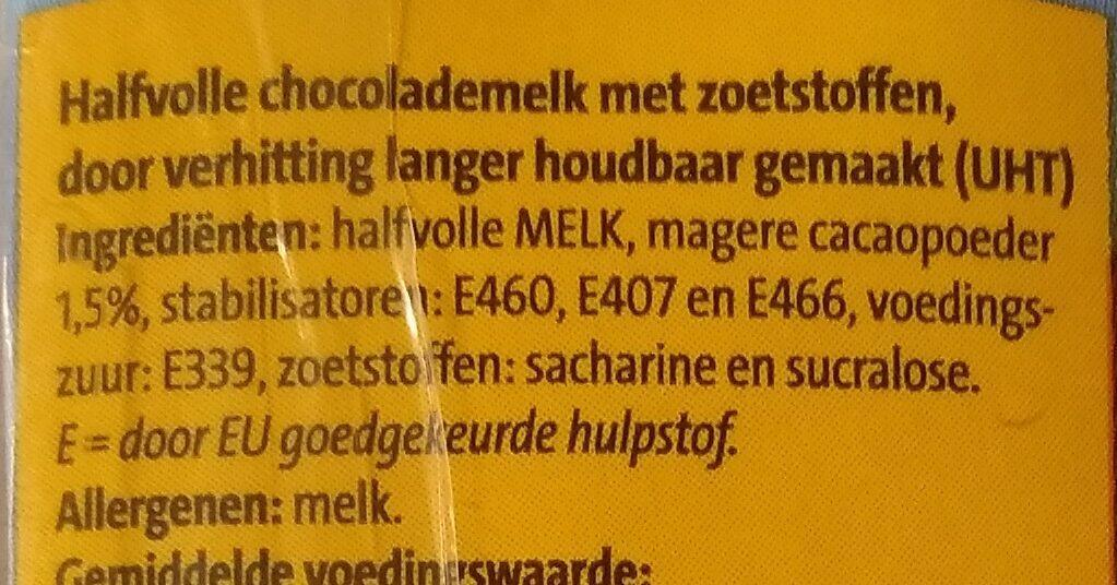 Chocolade melk - Ingrediënten