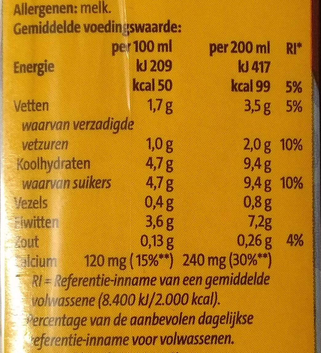 Chocolade melk - Voedingswaarden