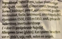 Kruidnoten - Ingrediënten