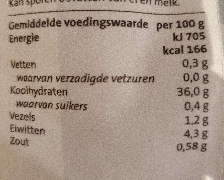 Jumbo gnocchi - Nutrition facts - nl