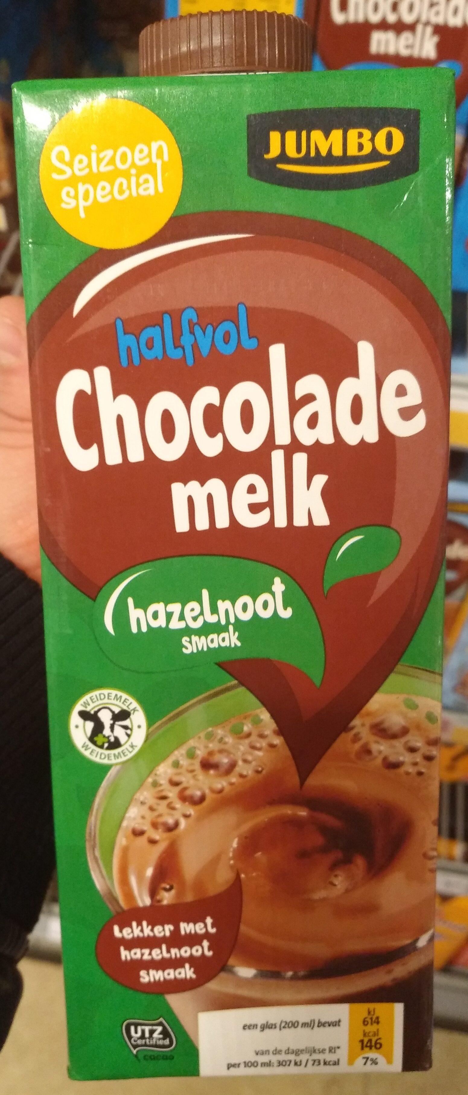 Halvol chocolade melk hazelnoot smaak - Product - nl