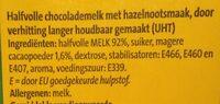 Halvol chocolade melk hazelnoot smaak - Ingredients - nl