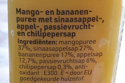 Mango, passievrucht, chilipeper - Ingrediënten