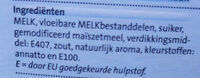 Vanille vla - Ingredients - nl
