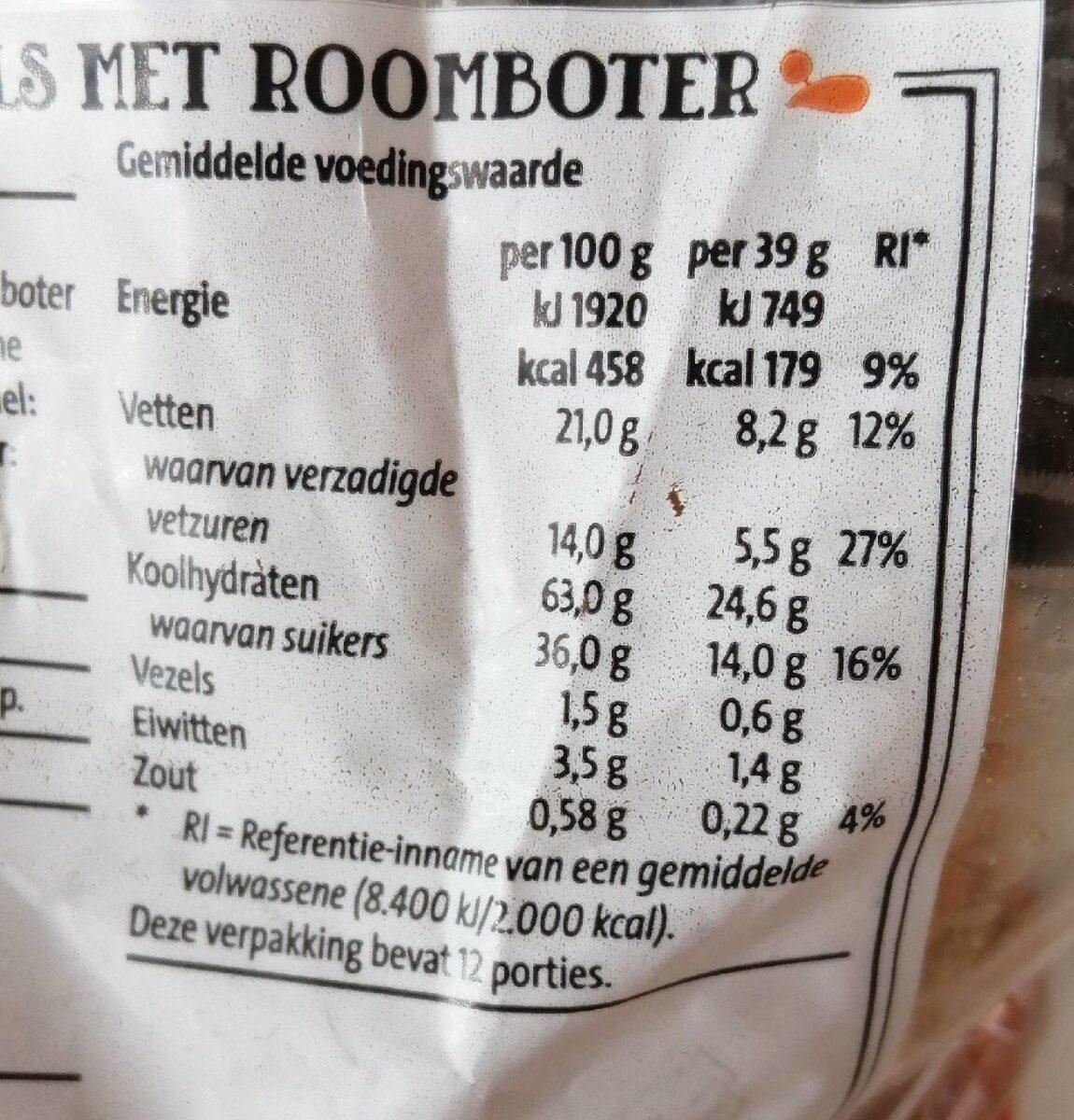 Stroopwafels met roomboter - Nutrition facts - nl