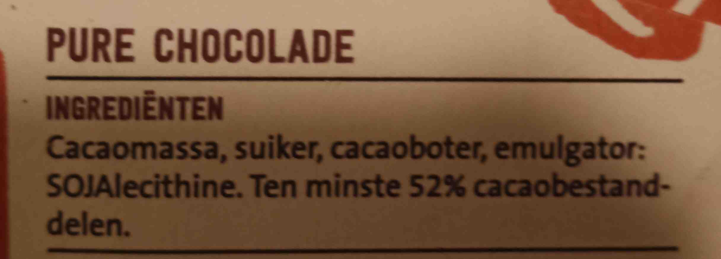 Krachtige puur chocolade - Ingrediënten - nl