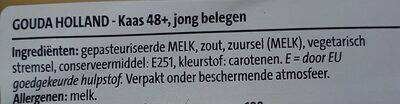 Gouda  Kaas 48+ jong belegen - Ingredients - nl