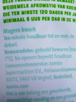 Franse Kwark Mager - Ingredients - en