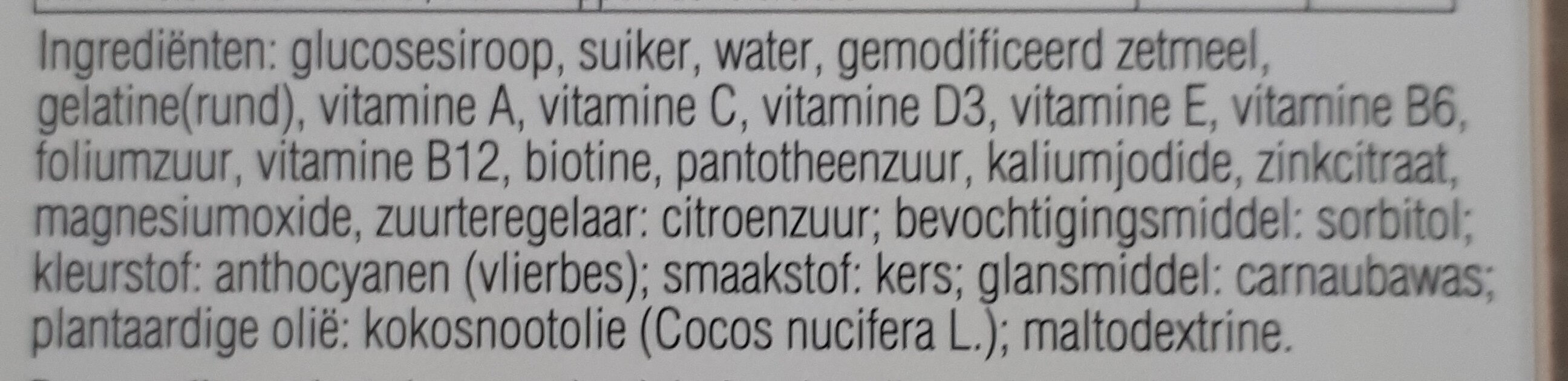 Kinder Multivitaminen - Ingredients