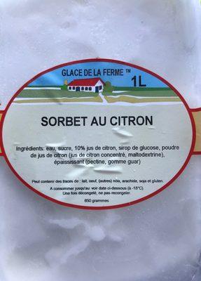Sorbet au citron - Produit - fr