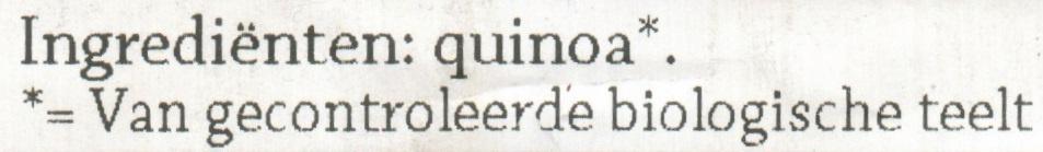 Rode Quinoa - Ingrediënten