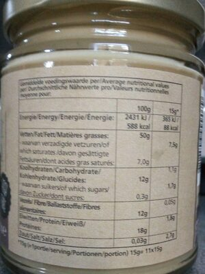 Tahini White - Nutrition facts - fr
