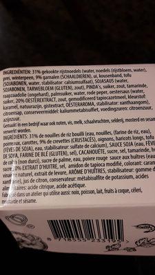 Tofu-Scampi-Nouilles-Chili doux - Ingrediënten