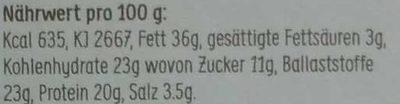 Lijnzaad Crackers Zeewier - Nährwertangaben