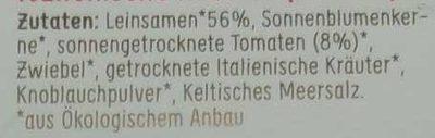 Lijnzaad Crackers Italian - Inhaltsstoffe