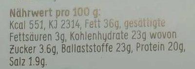Lijnzaad Crackers Italian - Nährwertangaben