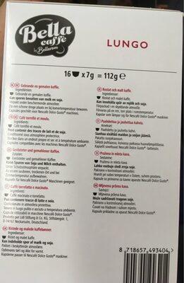 Lungo bella - Voedingswaarden