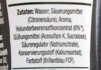 Rote Beeren Sirup - Ingrédients - en