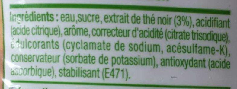 Concentré saveur thé citron - Ingrédients - fr