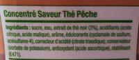 Concentré Saveur thé pêche - Ingrédients - fr