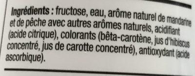 Water Mix saveur Mandarine Pêche - Ingrédients - fr
