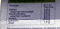 Vegetarische Kipstuckjes - Informations nutritionnelles