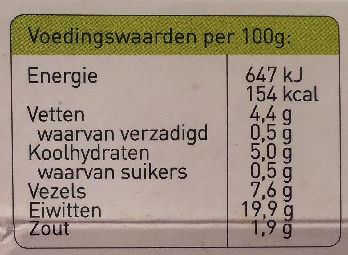Vegetarische Kipstuckjes - Informations nutritionnelles - nl