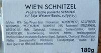 Wie'n Schnitzel - Ingrédients - de