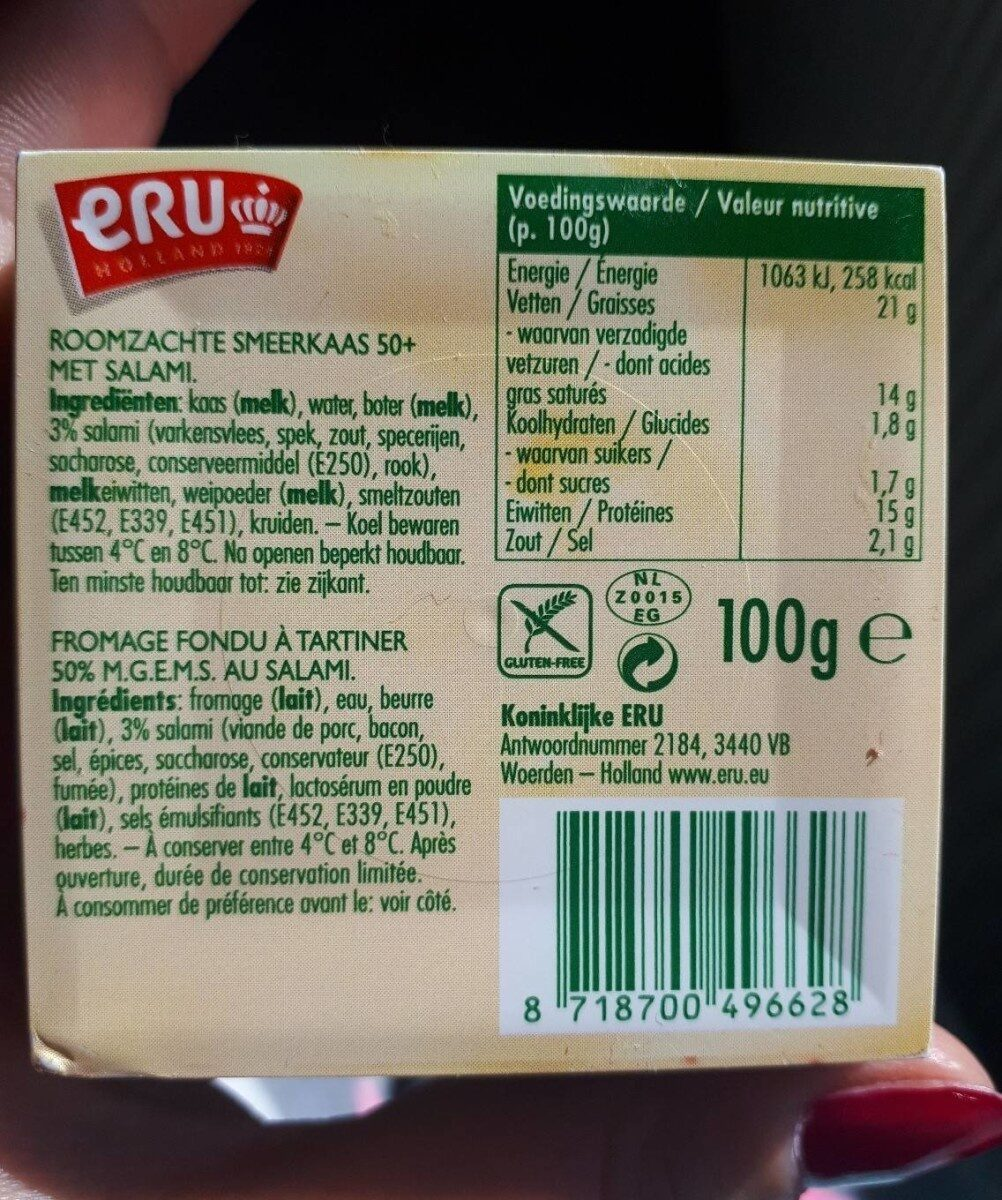 Goudkuipje salami - Nutrition facts - nl