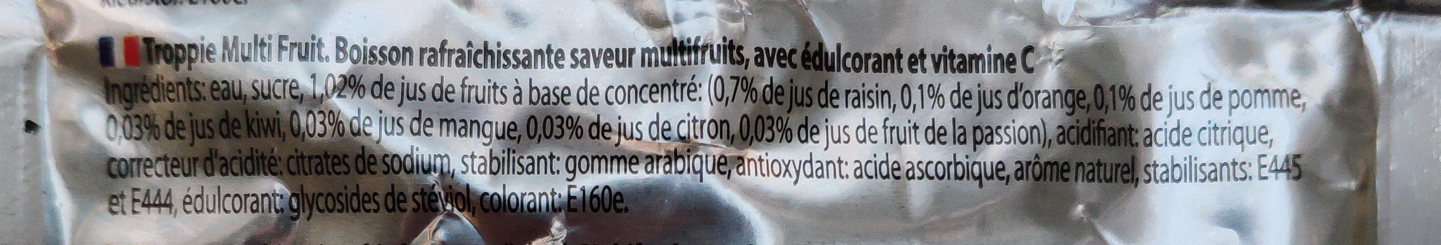 Multifruit - Ingrediënten