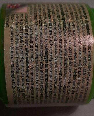Spearmint Chewing-gum - Informação nutricional - fr