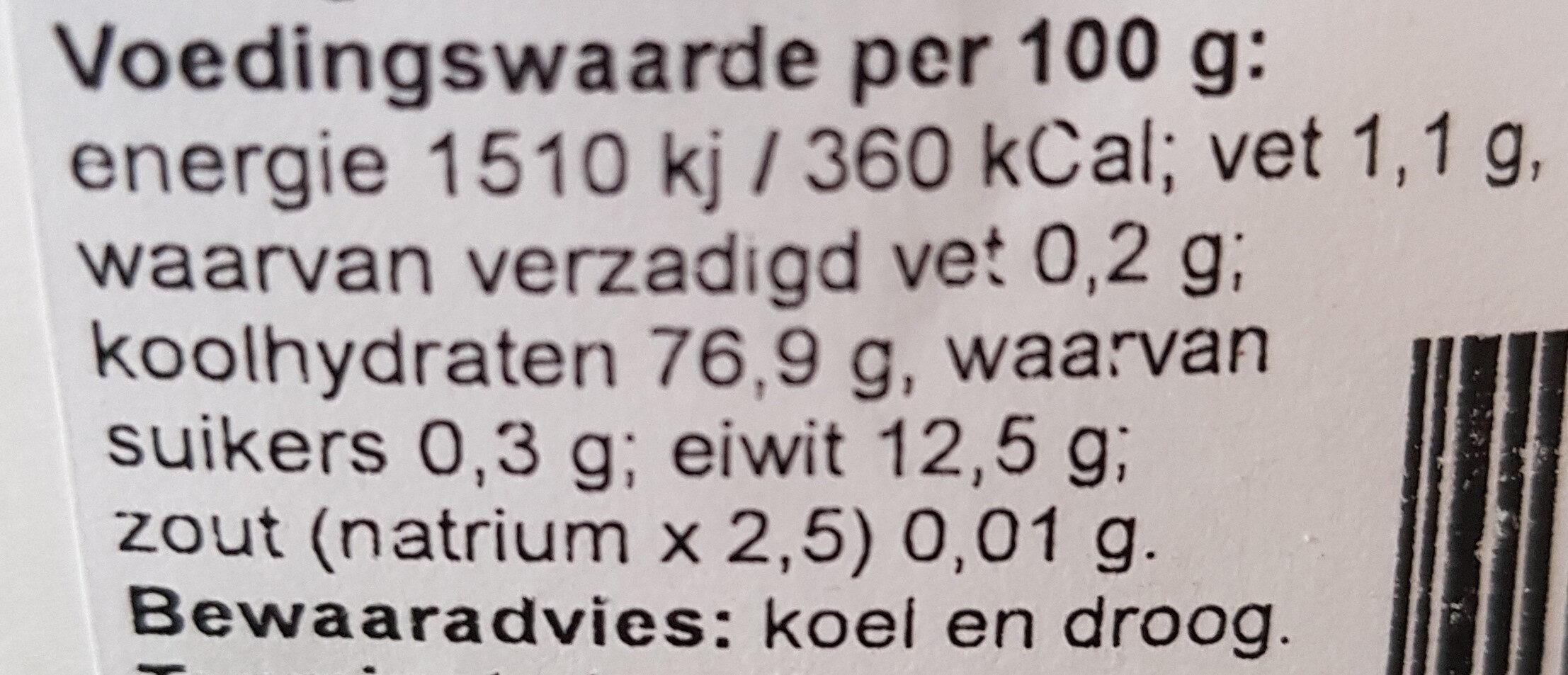 Patentbloem - Voedingswaarden - nl