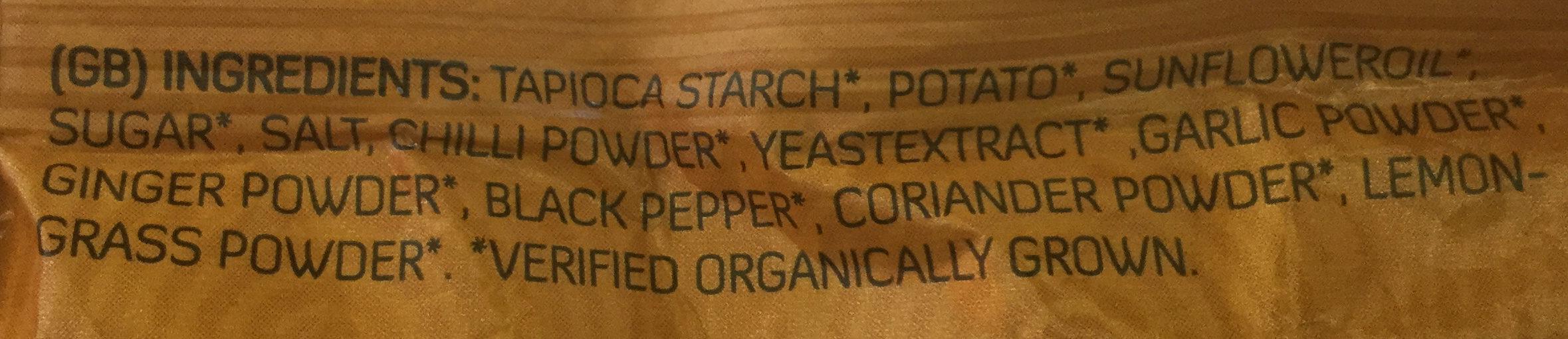 Chips Orientale - Ingredients - en