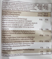 Chips de pommes de terre - Nutrition facts - fr