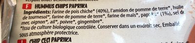 Hummus Chips With Paprika - Ingredients