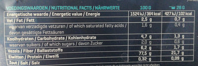 Isolate Perfection - Chocolate - Nutrition facts - en