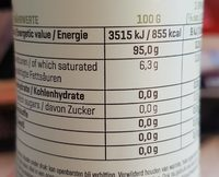 Cooking Spray, Rapsöl - Informations nutritionnelles